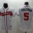 2017 Commemorative Patch Atlanta Braves Mens #5 Freddie Freeman White