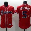 2017 Commemorative Patch Atlanta Braves Mens #5 Freddie Freeman Red