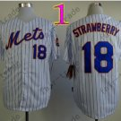 18 Darryl Strawberry Jersey Vintage New York Mets Jerseys White Throwback