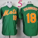 18 Darryl Strawberry Jersey Vintage New York Mets Jerseys Green Throwback