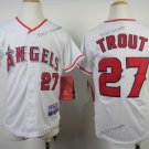 youth los angeles angels #27 mike trout 2015 Baseball Jersey Rugby Jerseys Authentic color White