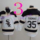 Chicago White Sox  #35 frank thomas Baseball Hooded Stitched Old Time Hoodies Sweatshirt Jerseys