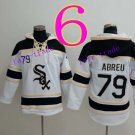 Chicago White Sox #79 Jose Abreu  Baseball Hooded Stitched Old Time Hoodies Sweatshirt Jerseys