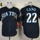 22 Robinson Cano Seattle Mariners Baseball Jerseys Cooperstown Vintage Flexbase Cool Base Black