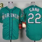 #22 Robinson Cano Seattle Mariners Baseball Jerseys Cooperstown Vintage Flexbase Cool Base Green