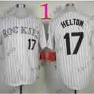Colorado Rockies Jerseys 17 Todd Helton Jersey White 20TH Patch