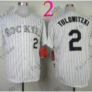 Colorado Rockies Jerseys 2# Troy Tulowitzki Jersey White 20TH Patch