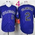 Colorado Rockies Jerseys 2# Troy Tulowitzki Jersey Purple 20TH Patch