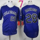Colorado Rockies Jerseys  28 Nolan Arenado Jersey Purple 20TH Patch