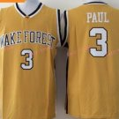 Chris Paul College Jersey Wake Forest Demon Deacons Yellow