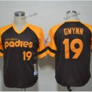 san diego padres 19 tony gwynn 2015 Baseball Jersey Rugby Jerseys Authentic Stitched Black style 1