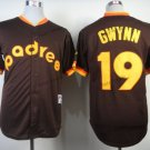 san diego padres 19 tony gwynn 2015 Baseball Jersey Rugby Jerseys Authentic Stitched Black style 2