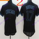 chicago cubs #17 kris bryant 2016 Baseball Jersey Rugby Jerseys Black Style 1