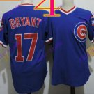 chicago cubs #17 kris bryant 2016 Baseball Jersey Rugby Jerseys Blue
