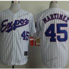 montreal expos #45 pedro martinez 2015 Baseball Jersey White Rugby Jerseys Authentic Stitched S2