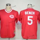 cincinnati reds #5 johnny bench 2015 Baseball Jersey Rugby Jerseys Red