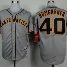 san francisco #40 madison bumgarner 2015 Baseball Jersey Rugby Jerseys Authentic Stitched Gray