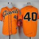san francisco #40 madison bumgarner 2015 Baseball Jersey Rugby Jerseys Authentic Stitched Orange