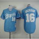 kansas city royals #16 bo jackson 2015 Baseball Jersey Rugby Jerseys Authentic Stitched Blue