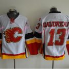Gaudreau Hockey Jerseys Calgary Flames #13 Johnny Gaudreau Home White Stitched TOP Quality