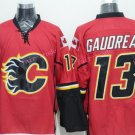 Gaudreau Hockey Jerseys Calgary Flames #13 Johnny Gaudreau Home Red Stitched TOP Quality