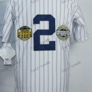 New York #2 derek jeter White 2015 Baseball Jersey Rugby Jerseys Authentic Stitched Style 1