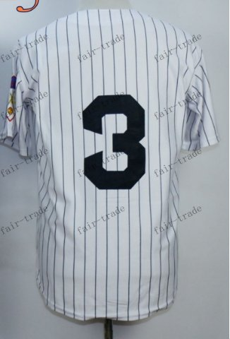 New York #3 babe ruth White 2015 Baseball Jersey Rugby Jerseys Authentic Stitched