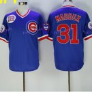 conew_chicago cubs #31 greg maddux cream 1929 2016 Baseball Jersey Rugby Jerseys  Blue