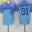 conew_chicago cubs #31 greg maddux cream 1929 2016 Baseball Jersey Rugby Jerseys Light Blue