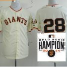 san francisco giants #28 buster posey 2015 Baseball Jersey Authentic Stitched Light Yellow S2