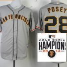 san francisco giants #28 buster posey 2015 Baseball Jersey Authentic Stitched Gray Style 1