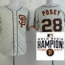 san francisco giants #28 buster posey 2015 Baseball Jersey Authentic Stitched Gray Style 2