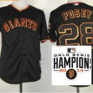 san francisco giants #28 buster posey 2015 Baseball Jersey Authentic Stitched Black
