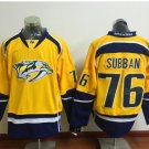 76 P.K Subban 2016 New Arrivals Men Nashville Predators Yellow Ice Hockey Stitched Jerseys