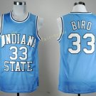 1992 USA Dream Team Larry Bird Jersey 33 Throwback Indiana State Sycamores College Jerseys Blue