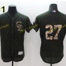 Colorado Rockies 27 Trevor Story Jersey Cool Base Flexbase Trevor Story Baseball Jerseys Black
