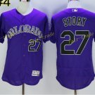 Colorado Rockies 27 Trevor Story Jersey Base Flexbase Trevor Story Baseball Jerseys Purple Style 1