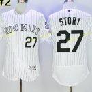Colorado Rockies 27 Trevor Story Jersey Base Flexbase Trevor Story Baseball Jerseys WHITE Style 1