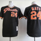 san francisco giants #24 willie mays 2015 Baseball Jersey Rugby Jerseys Black Style 1