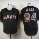 san francisco giants #24 willie mays 2015 Baseball Jersey Rugby Jerseys Black Style 2