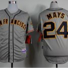 san francisco giants #24 willie mays 2015 Baseball Jersey Rugby Jerseys Gray Style 1