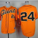 san francisco giants #24 willie mays 2015 Baseball Jersey Rugby Jerseys Orange Style 2