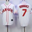 New Baseball 7 Ivan Rodriguez Jersey Texas Rangers Cooperstown Flexbase Base Pullover Button White