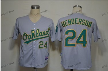 oakland athletics #24 rickey henderson 2015 Baseball Jersey  Rugby Jerseys Authentic Stitched Gray
