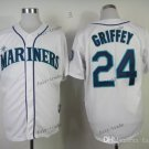 seattle mariners #24 ken griffey 2015 Baseball Jersey Rugby Jerseys Authentic Stitched White Style 1