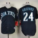 seattle mariners #24 ken griffey 2015 Baseball Jersey Rugby Jerseys Authentic Stitched Black