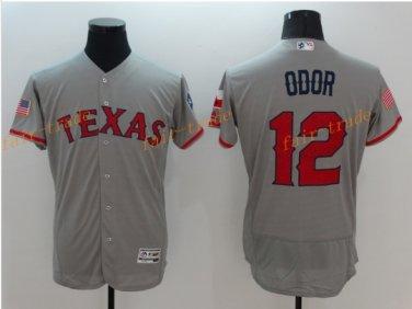 Texas Rangers 12 Rougned Odor Jersey Flexbase Cool Base Rougned Odor Baseball Jerseys Gray