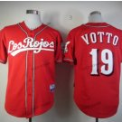 cincinnati reds #19 joey votto 2015 Baseball Jersey Rugby Jerseys Authentic Stitched Red Style 2