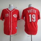 cincinnati reds #19 joey votto 2015 Baseball Jersey Rugby Jerseys Authentic Stitched Red Style 1