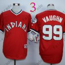 New Indians 1978 Throwback Jerseys 99 Ricky Vaughn  Stitched